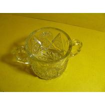 Cristaleria Antigua Hielera Tallada C/2 Asas Diam 10 Cm