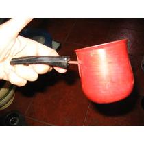 Antiguo Jarrito Enlozado Tipo Cucharon Con Manija 8x 7,5cms