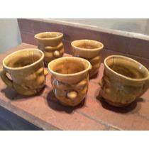Jarro / Chop Antiguo De Ceramica Esmaltada Con Cara