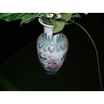 Jarron Decorativo Con Vinagrera Y Aceitera De Ceramica