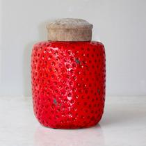 Potiche De Cerámica Rojo