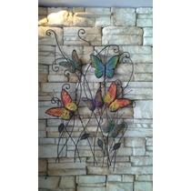 Rama De Mariposas De Chapa Para Pared Decoración