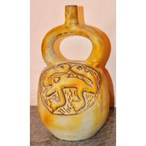 Jarrón De Ceramica Tipo Etnico