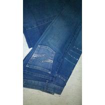 Pantalon De Jean Con Aplicaciones De Strass