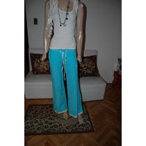 Whoss Pantalon De Gimnasia Turquesa Con Blanco Promo