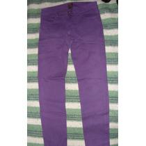 Pantalón De Jean Chupín Violeta Para Mujer (hopkins Jeans)