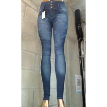 Jeans Nina X Mayor Cintura Ancha Recortes 5 U. X $ 1350