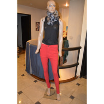 Maria Cher Pantalon De Jean Chupin Modelo Puli Rojo
