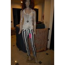 Rosh Pantalon De Jean Con Estampado Rayado Talle 30 Promo