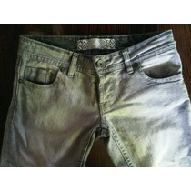Jeans Chupin Tucci Mujer Gris T24