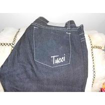 Pantalon Jean Gris Oscuro Y Gris Mujer T 38 Tucci Elastizado