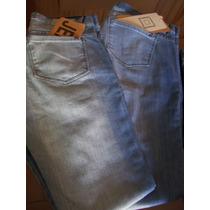 Pantalón Jeans Chupin Elastizado Tiro Medio Primera Marca