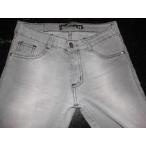 Pantalón De Jean Color Gris Clarito (talle 34) Elastizado