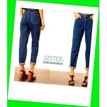 Mom-jeans (tiro Alto Chupin 90s) - Talles 34 Al 48