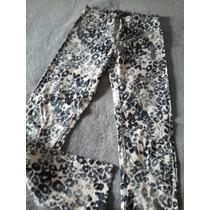 Pantalón Jean Elastizado Animal Print Mujer. Cuesta Blanca