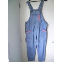 Pantalon Jeans Enterito Jardinero Futura Mama T2 X L Regalo