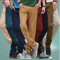 Pantalones Gabardina Chupin Colores Hombre - Talle 36 A 46