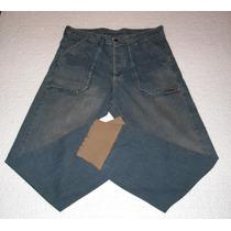 Jeans Pantalon Rash C/nuevo Con Puños Y Botones 100 % Orig