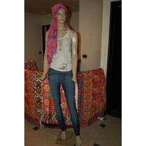 Maria Cher Pantalon Chupin De Jean Elastizado Modelo Artic