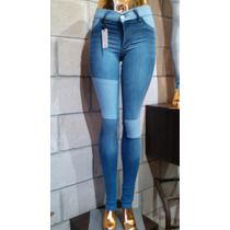 Jeans Nina Con Parches 3 Col Push Up X Mayor 5 U. X $ 1250