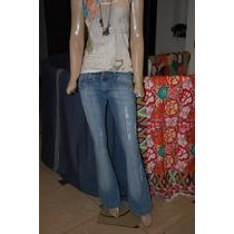 47 Street Pantalon De Jean Oxford Azul Con Rotura Promo