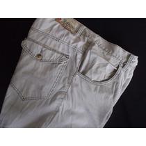 Pantalon Gabardina Corte Jeans Talle 44 Xl A Cuadrille Usado