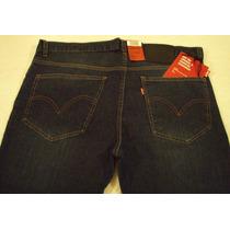 Jeans Levis Hombre Azul Oscuro Y Liso - Elastizados Y Chupín