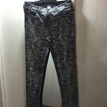 Pantalon De Jeans Floreado Importado
