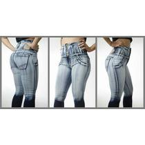 Jeans Levanta Cola Elastizados Super Altos 36 Al 50