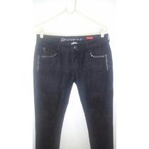 Jeans Con Detalles De Tachas, Talle 42, De Americanino