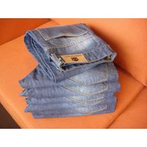 Jeans Localizado Hombre En Celeste Y Azul Del 38 Al 48