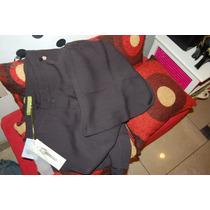 Rapsodia Pantalon De Crepe Color Negro Azulado Promo