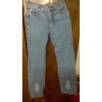 Jeans Embrujo Talle 36 Dama Con Bordado