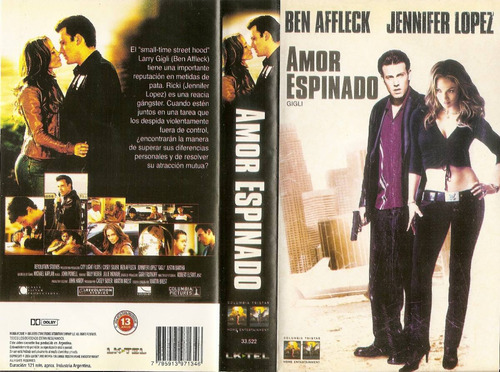Jennifer Lopez Ben Affleck Amor Espinado Comedia Romance Vhs