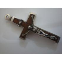 Cruz De Plata Con Tierra De Catacumbas De San Calixto