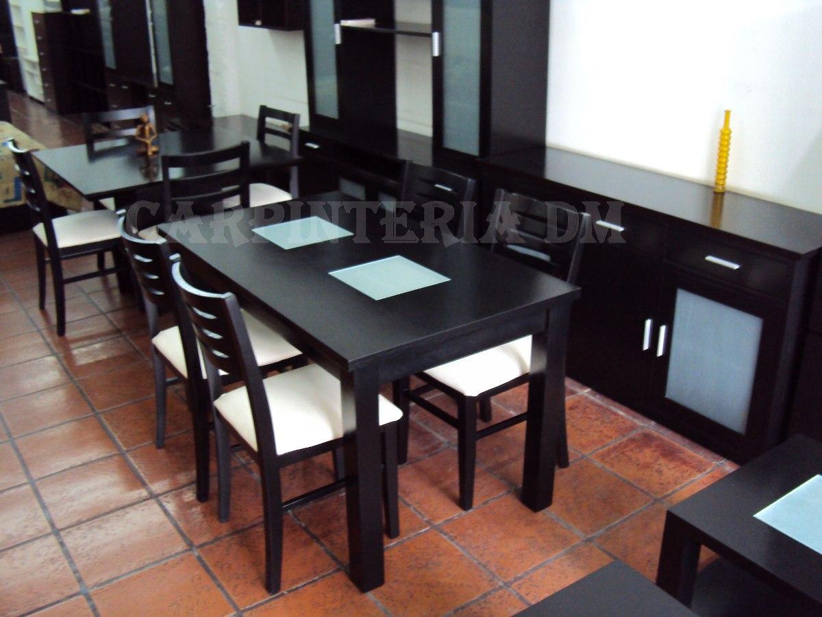 Mesa comedor 8 personas elegant mesa de comedor para Juego de comedor 4 sillas moderno
