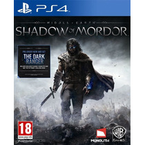 Tierra Media La Sombra De Mordor Ps4 Tarjeta Digital