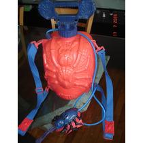 Mochila Rigida Para Agua Spider -man Con Lanzador De Mano !!
