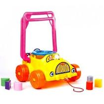 Juguete Didactico Auto Caminador 2 En 1 Arrastre Encastre