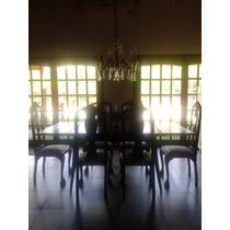 Mesa De Comedor Antiguo Lustrado
