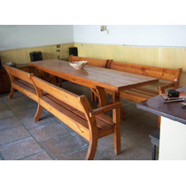 Historical*-antigua Mesa 3,50m- 4 Bancos Quincho Campo-envío