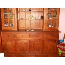Mueble Cristalero De Algarrobo