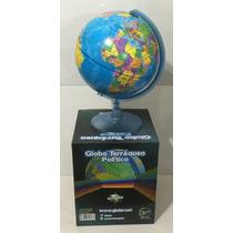 Globo Terraqueo 25 Cm Base Plastico Gloter Xml 257w