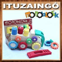 Juguetes Monoblock - Camiones De Madera Y Goma Eva
