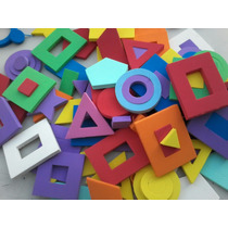 Figuras Geometricas En Goma Eva !!!paquete X100 Unidades....