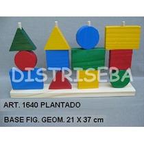 Plantado Figuras Geométricas Madera Material Didactico