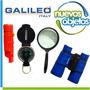 Kit Explorador Galileo Binocular Silvato Espejo Brujula Lupa