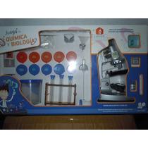 Juego De Quimica Y Biologia Galileo Con Microscopio Y Manual
