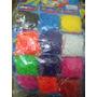 Paquete De 600 Gomitas P/hacer Pulseras De 1 Color
