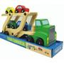 Camión Y 4 Autitos De Madera Montessori